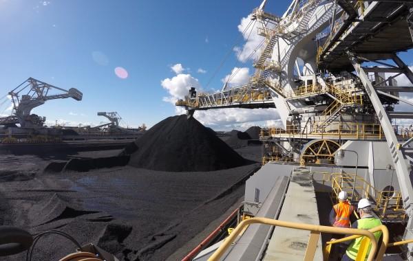 Stacks of Coal at NCIG